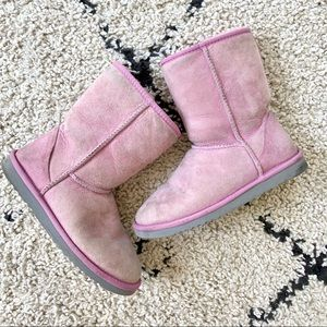 Ugg Boots Pink Womens Classic Short 5825 size 6